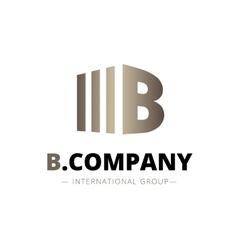 Trendy isometric b letter logo vector