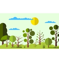 Summer forest flat background vector