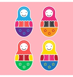 Matryoshka doll set of four vector