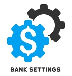 Bank settings icon with caption vector