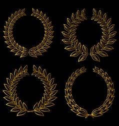 golden laurels set vector image
