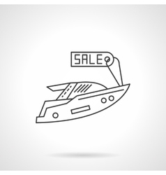 Yacht for sale icon flat line design icon vector
