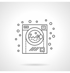 Washing machine flat line design icon vector