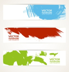 Abstract color handdrawn by brush banner vector image