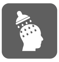 Brain washing flat squared icon vector