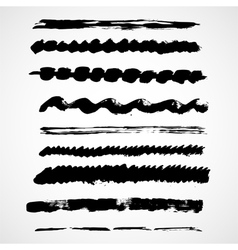 Brush lines set vector