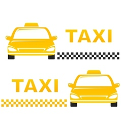 Business cards with taxi vector