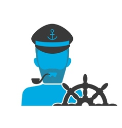 Captain blue icon vector image vector image