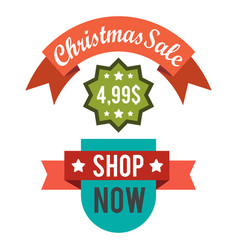 christmas sale price off new year decorated tree vector image vector image