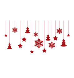 christmas white background vector image vector image