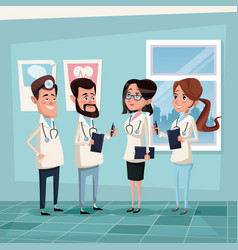 Color background hospital room with hospital vector