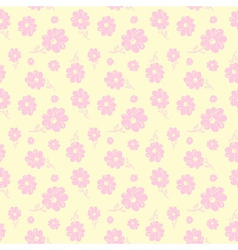 colorful flowers seamless background pastel vector image vector image