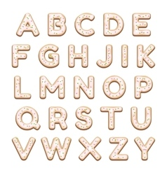 Cookies Alphabet vector image