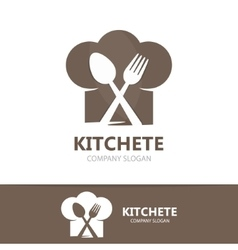 cooking logo template vector image vector image