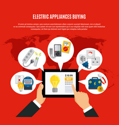 Electric appliances buying online vector