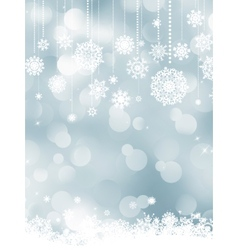 Elegant christmas silver snowflakes EPS 8 vector image vector image