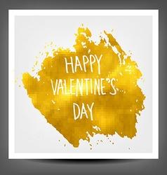 Golden banner happy Valentine day vector image vector image