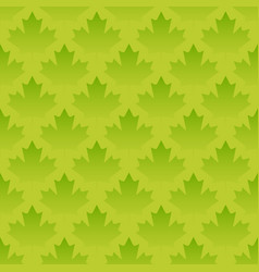 green maple leaves seamless pattern vector image