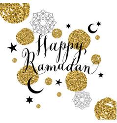 Happy ramadan with celebration symbol vector