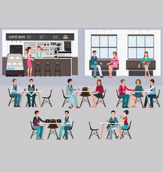 modern cafe shop interior vector image