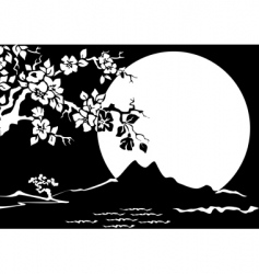oriental graphic vector image vector image
