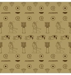 pattern of Egyptian hieroglyphics vector image
