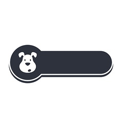 Puppy dog banner template vector