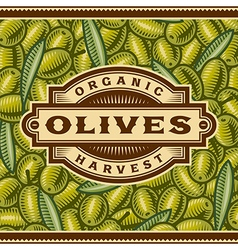 Retro Olive Harvest Label vector image vector image