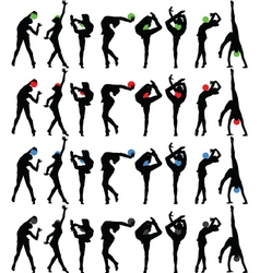 rhythmic gymnastics with ball vector image vector image