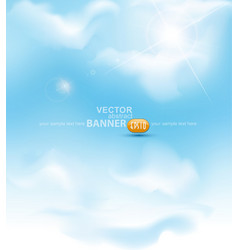 sky with sun ray vector image