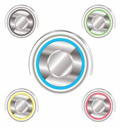 variation power buttons vector image