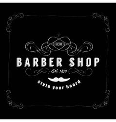 Vintage Barber Shop Badg vector image vector image