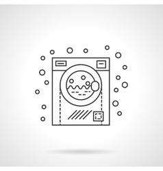 Washing machine flat line design icon vector image