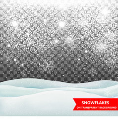 The falling snow and drifts vector