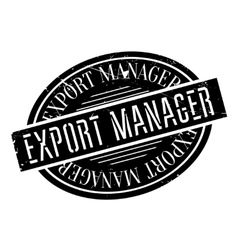Export manager rubber stamp vector