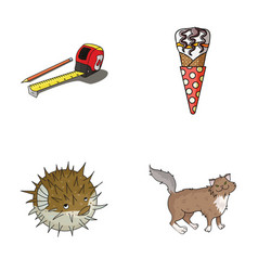 Food breed and other web icon in cartoon style vector