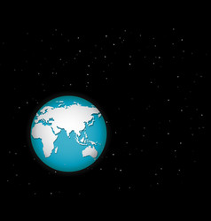 world in space with many stars vector image
