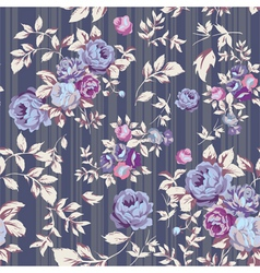 Rose Seamless Pattern Gray vector image