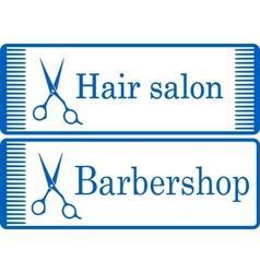 blue barbershop signboard vector image