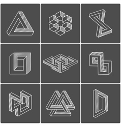 Optical shapes elements vector image