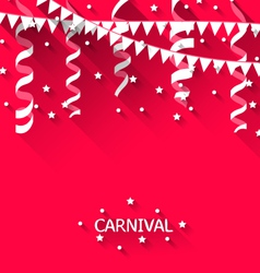 Holiday background with hanging pennants for vector