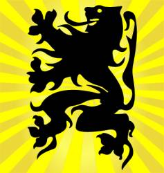 Flemish lion vector