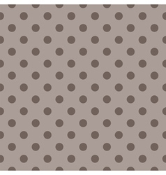 Tile pattern brown polka dots on dark background vector