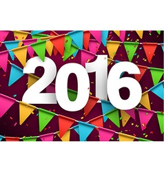 2016 paper celebration background vector