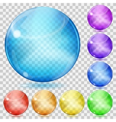 Transparent glass spheres vector