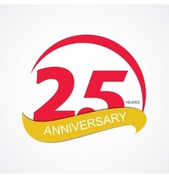 Template Logo 25 Anniversary vector image