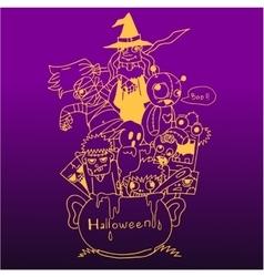 Purple backgrounds halloween doodle art vector