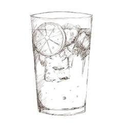 tropical cocktail sketch icon vector image
