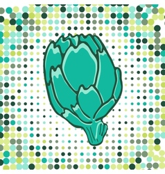 A colorful of fresh artichoke with vector