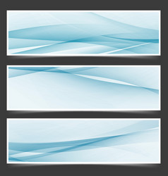 abstract flyer templates with swoosh lines vector image